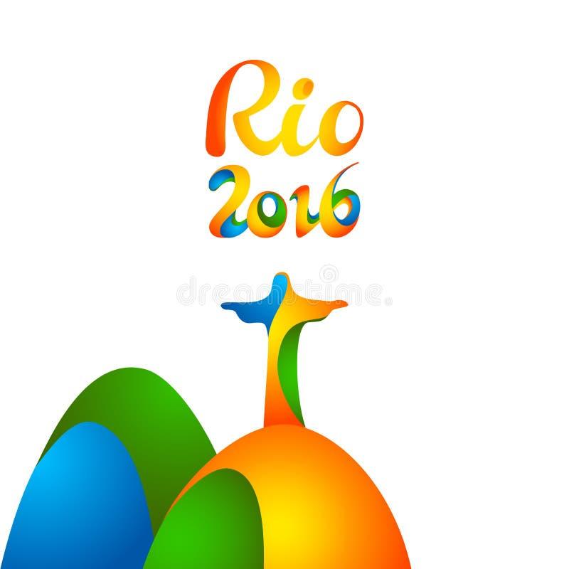 Zeichen-Rio-Olympicsspiele 2016 vektor abbildung