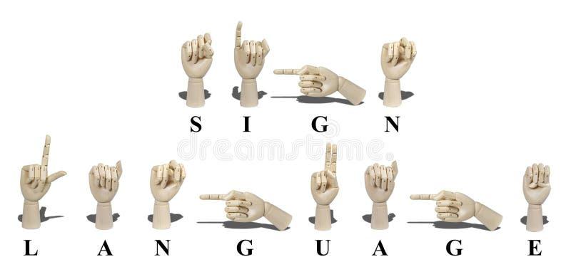 Zeichen-Sprache in der amerikanischen Zeichen-Sprache stockbild