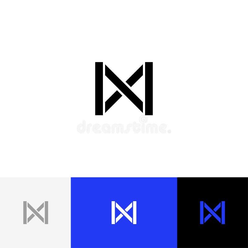 Zeichen, Symbol abstrakten Buchstaben m Vector Illustration des Logos m, Ikone mit blauer Farbe stock abbildung