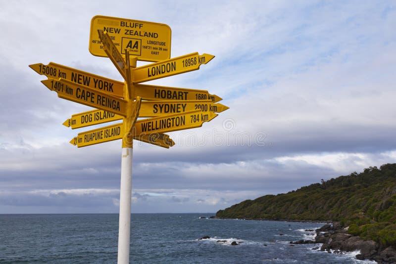 Zeichen-Täuschung Neuseeland stockfoto