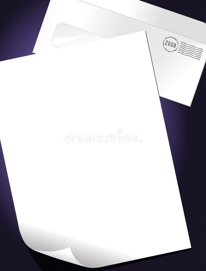Zeichen und Umschlag stock abbildung