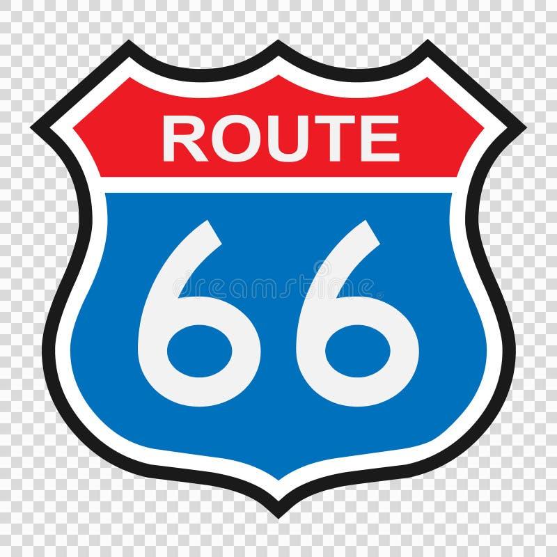 Zeichen US-Weges 66 lizenzfreie abbildung