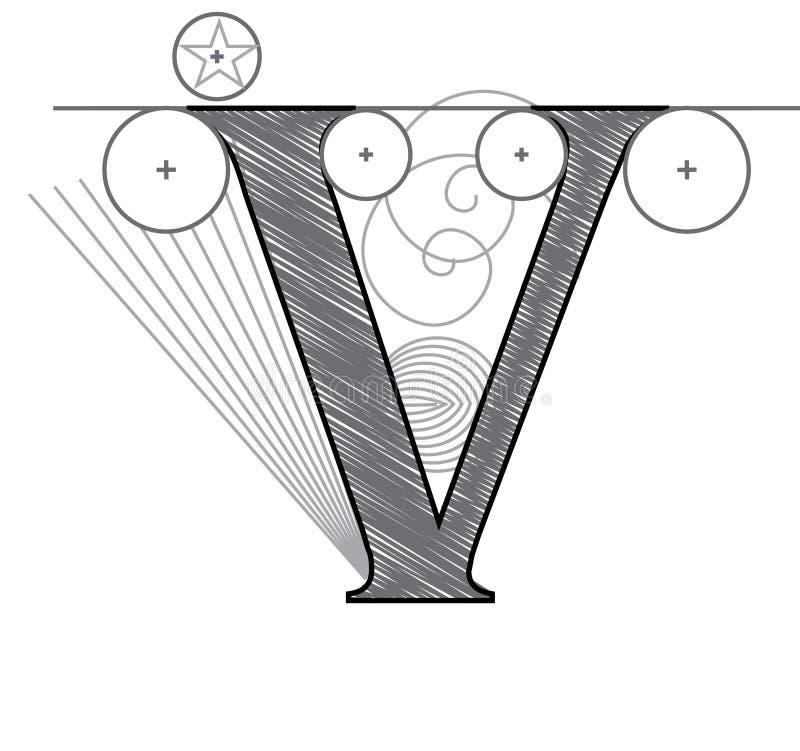 Zeichen V vektor abbildung