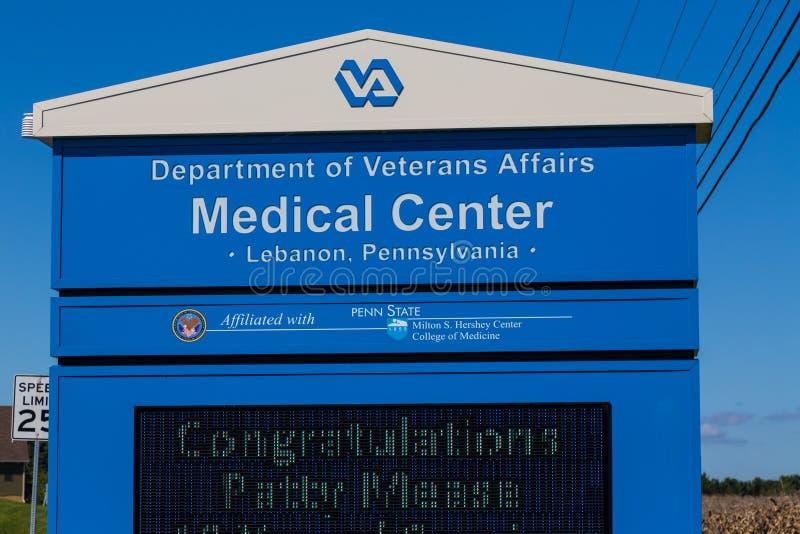 Zeichen in VA-Gesundheitszentrum lizenzfreie stockfotografie