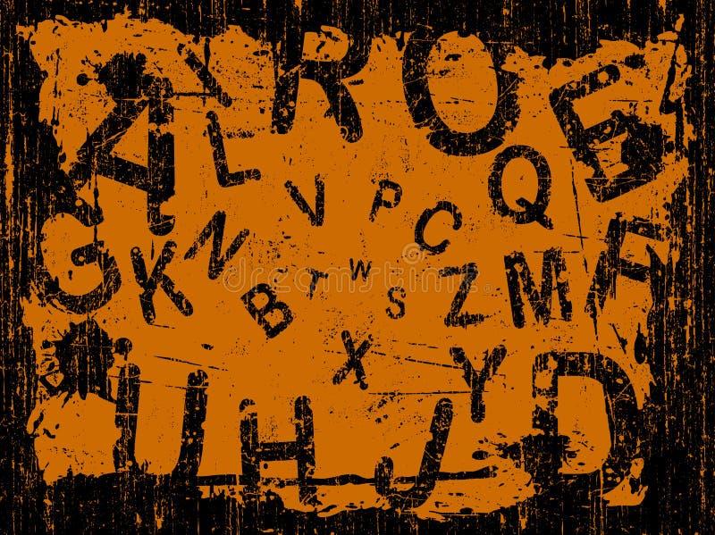 Zeichen voller Grunge Hintergrund lizenzfreie abbildung
