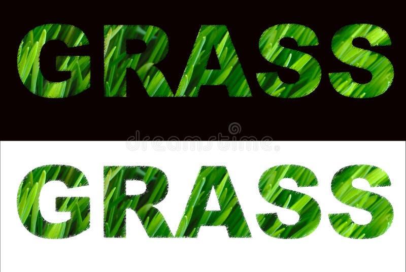 Zeichen vom Gras stockfotografie