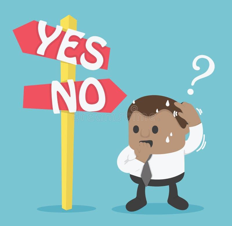 Zeichen-Wahl ja oder nein vektor abbildung
