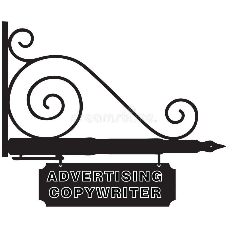 Zeichen-Werbungs-Werbetexter vektor abbildung