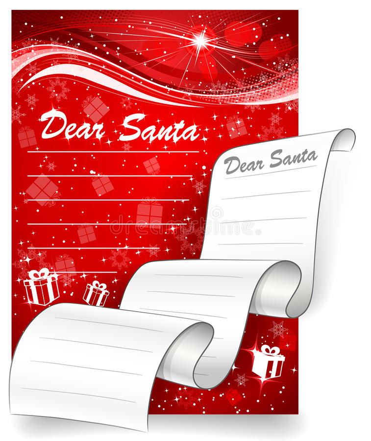 Zeichen zu Sankt. Weihnachtshintergrund lizenzfreie abbildung