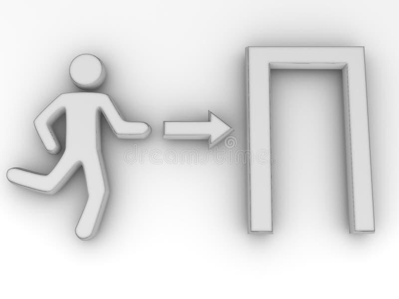 Zeichenausgang vektor abbildung