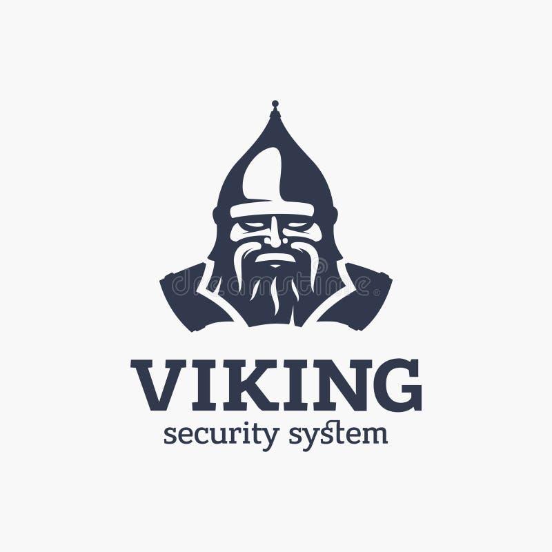 ZEICHENlogo-Wikinger-System des modernen Vektors Berufs lizenzfreie abbildung