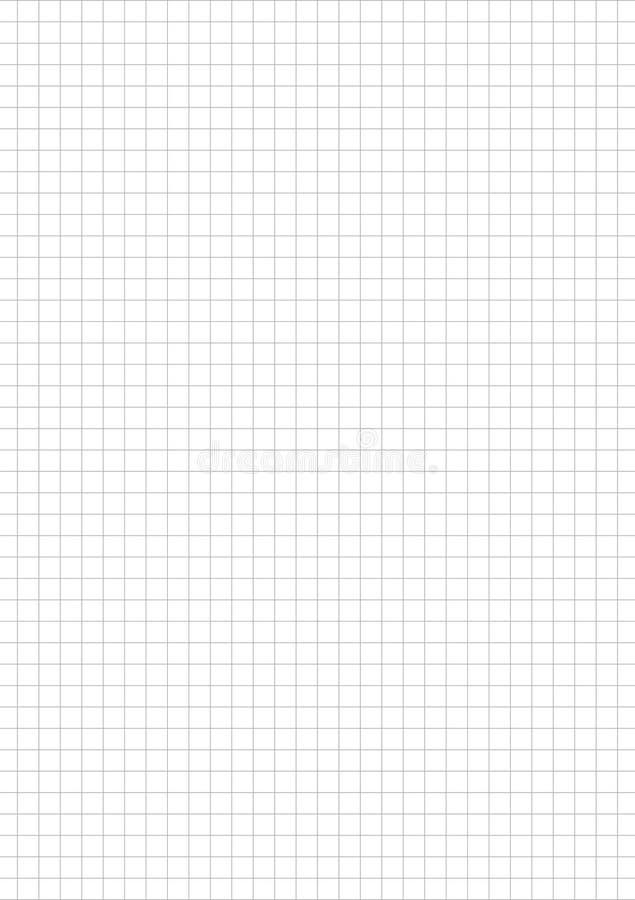 Zeichenpapiers- mit Maßeinteilungschablone A5 5 cm Quadrat Anmerkungsinhalt Gitterpapier Planerinhalt journal lizenzfreie abbildung