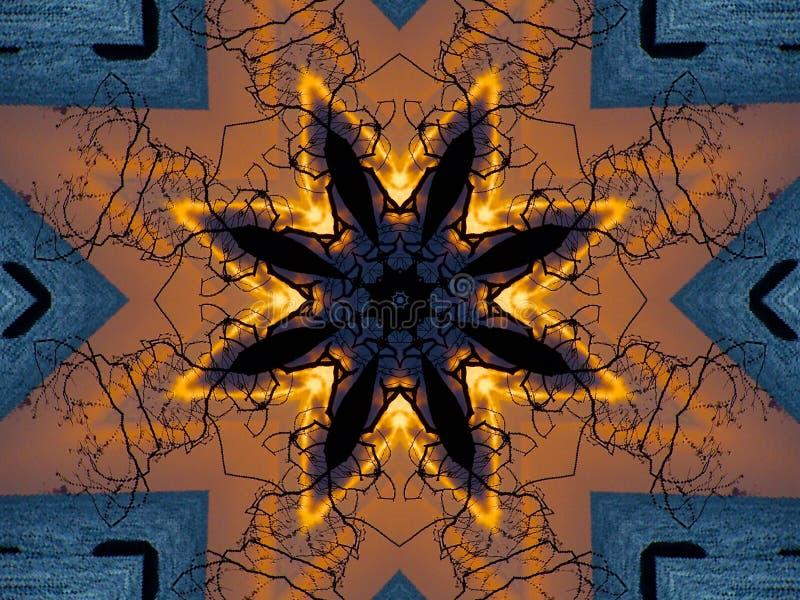 Zeichenstift-Kaleidoskop vektor abbildung