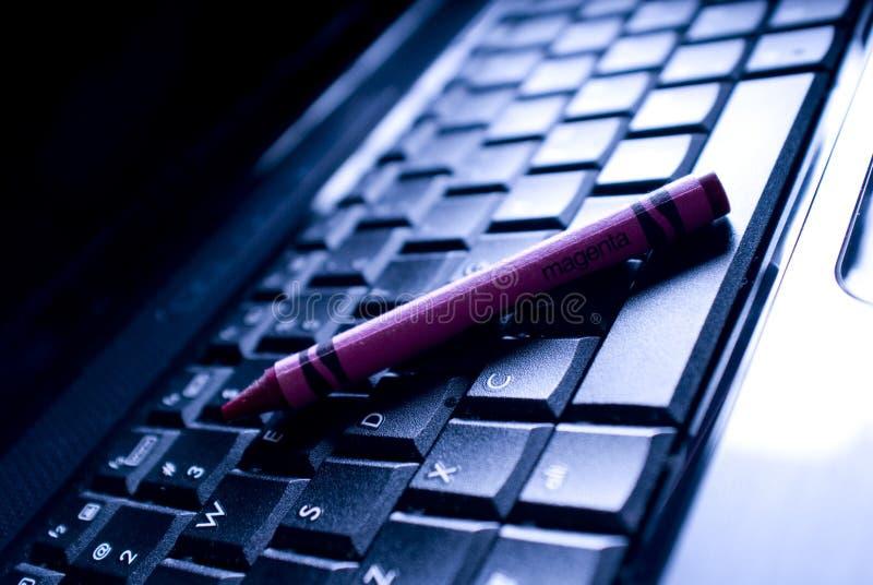 Zeichenstift-Tastatur stockbild