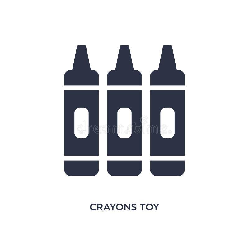 Zeichenstifte spielen Ikone auf weißem Hintergrund Einfache Elementillustration vom Spielwarenkonzept lizenzfreie abbildung