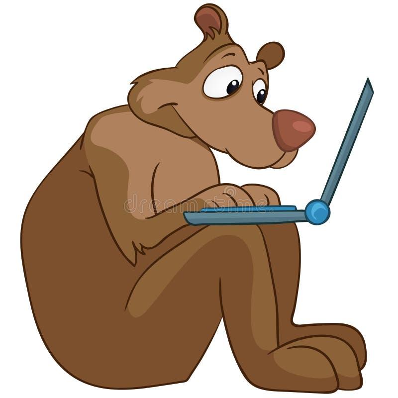 Zeichentrickfilm-Figur-Bär lizenzfreie abbildung