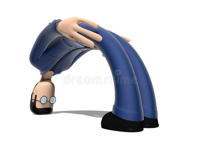 Zeichentrickfilm-Figur 3D verbogen vektor abbildung