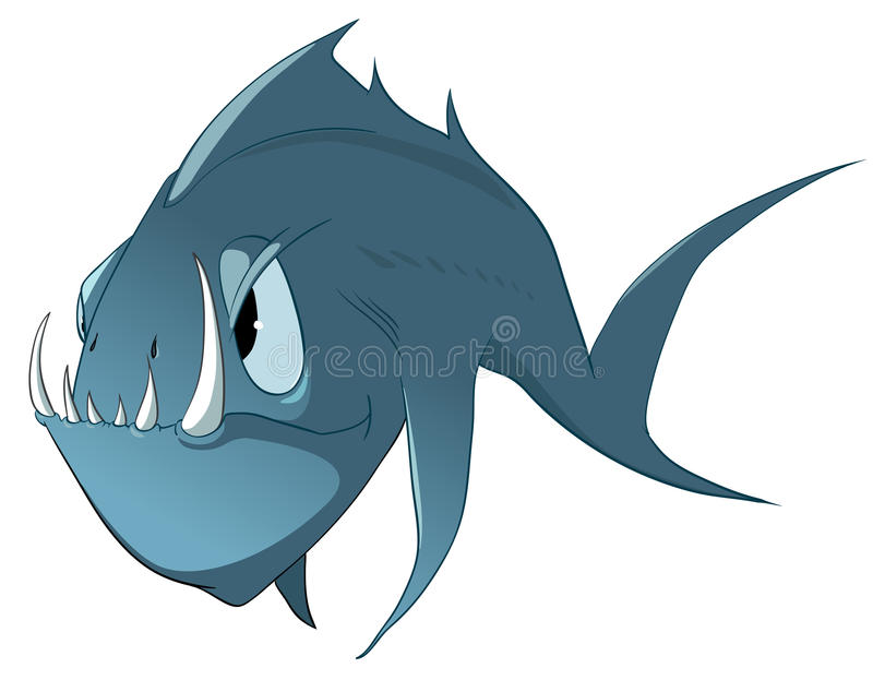 Zeichentrickfilm-Figur-Fische lizenzfreie abbildung