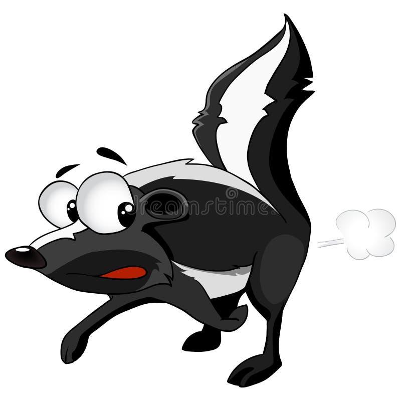 Zeichentrickfilm-Figur-Stinktier lizenzfreie abbildung