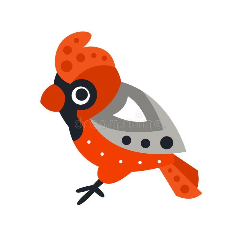 Zeichentrickfilm-Figur-Vektor Illustration des Eisvogelvogels bunte stock abbildung