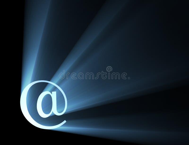 Am Zeichenzeichen-Leuchteaufflackern lizenzfreie abbildung