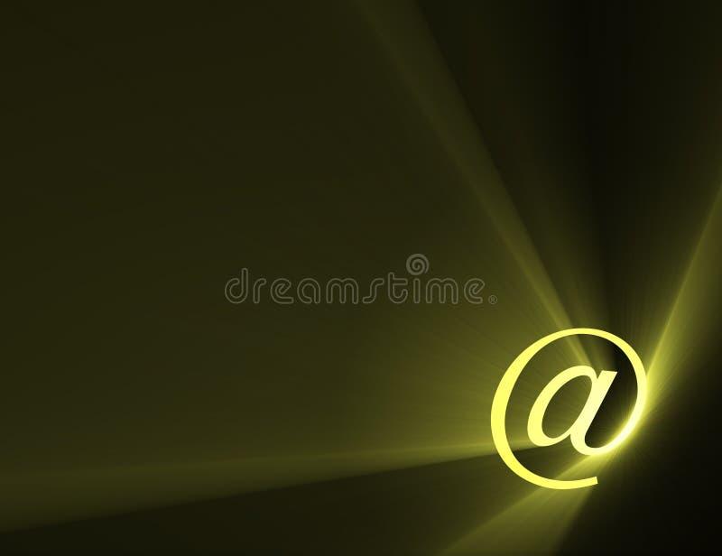Am Zeichenzeichen-Leuchteaufflackern vektor abbildung