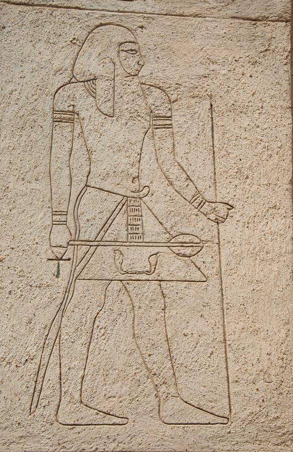 Zeichnen auf ein ägyptisches Thema lizenzfreie stockfotos