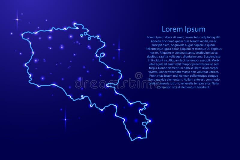 Armenien Auf Blauer Erde Mit Netz Stock Abbildung Illustration Von Netz Erde 134632282