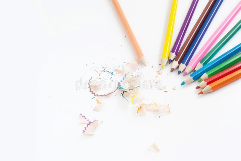 Zeichnen Sie den Farbkunst-Konzepthintergrund an, der für Text leer ist oder kopieren Sie horiz stockbild