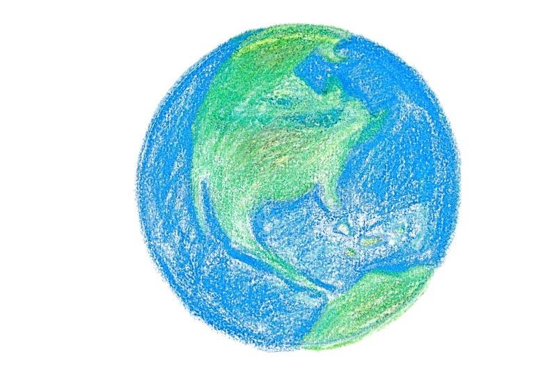 Zeichnen Sie Erde lizenzfreie stockfotos