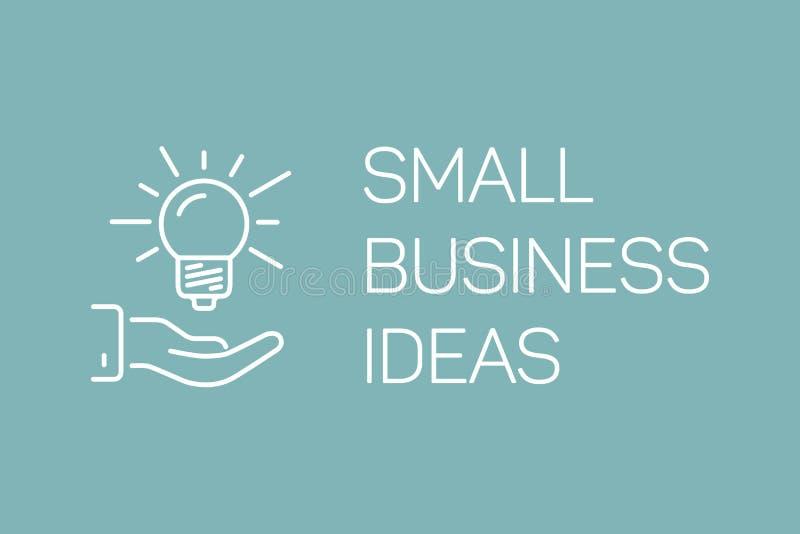 Zeichnen Sie Kleinbetriebillustration des Konzeptes, Ideenvektorfahne an stock abbildung