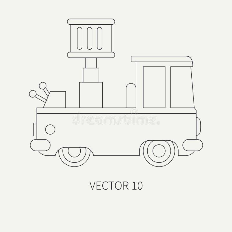 Zeichnen Sie Vektorikonenservice-Personalauto Der Flachen Ebene ...