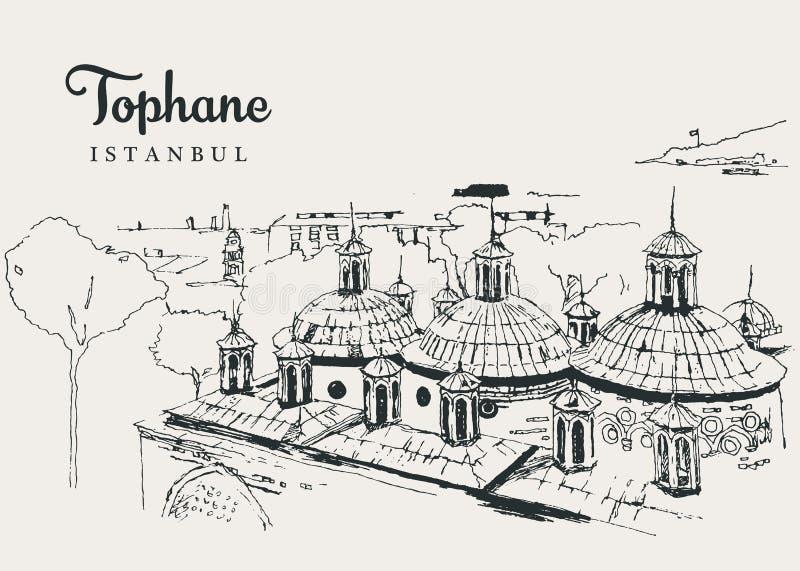 Zeichnen von Zeichnung Illustration von Tophane-i Amire stock abbildung