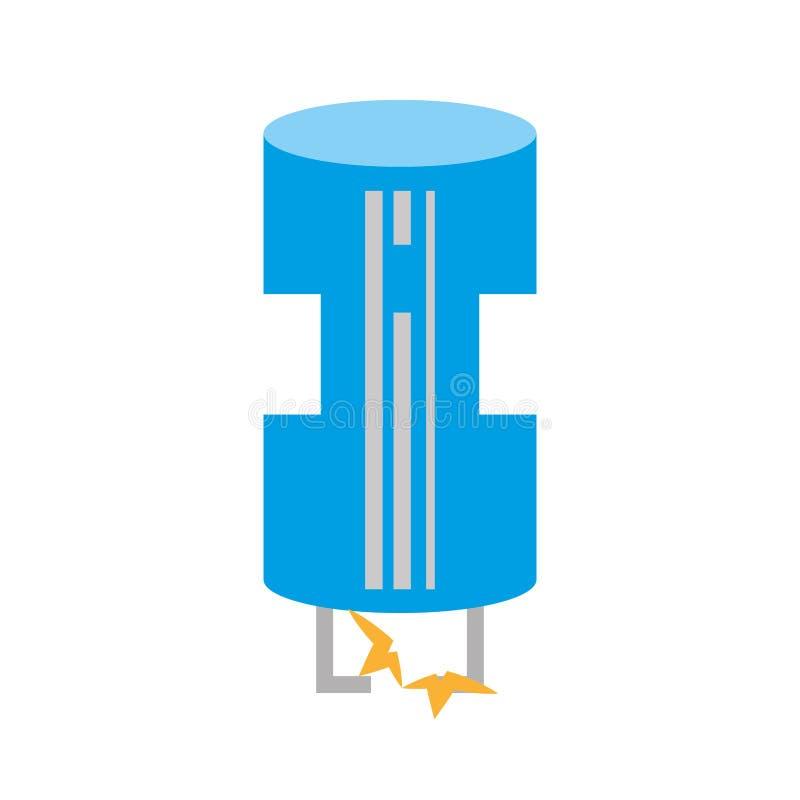 Zeichnender Blauer Transistor Der Elektrischen Komponente Stock ...