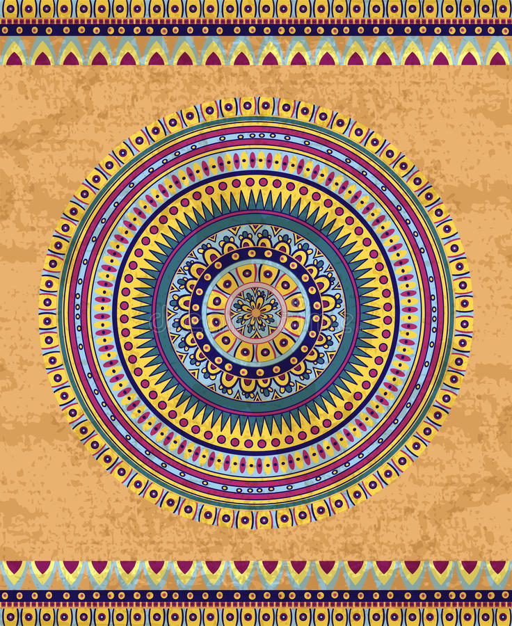 Zeichnendes Stammes- doddle Element lizenzfreie abbildung