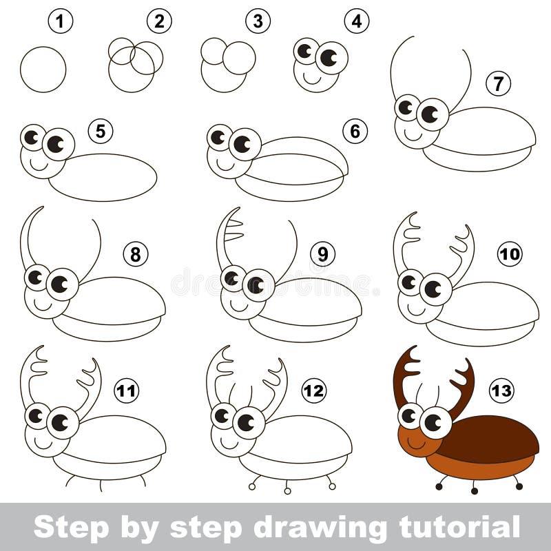 Zeichnendes Tutorium käfer vektor abbildung
