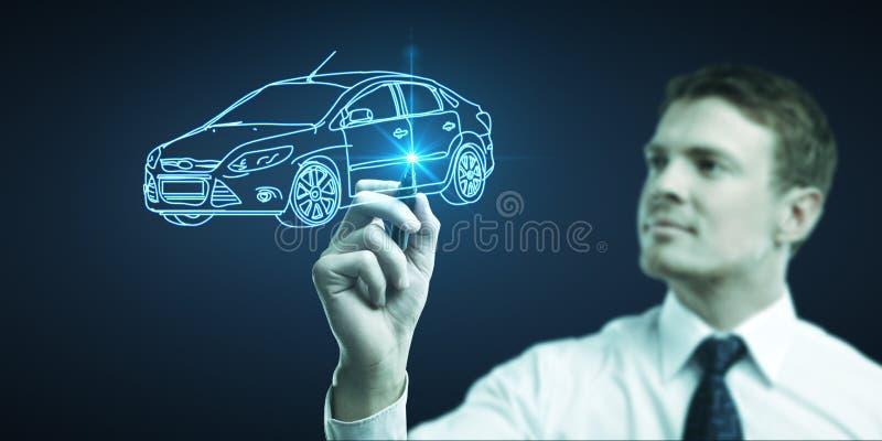 Zeichnet Automodell stockfotografie