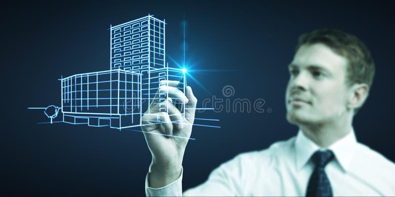 Zeichnet Gebäude lizenzfreie stockfotografie