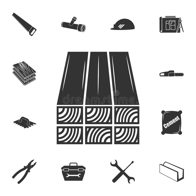 Zeichnet Ikone auf Ausführlicher Satz Baumaterialikonen Erstklassiges Qualitätsgrafikdesign Eine der Sammlungsikonen für Website, lizenzfreie abbildung