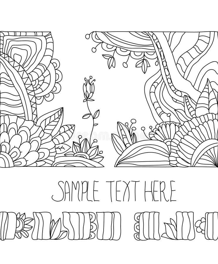 Zeichnung blüht Konzept stock abbildung
