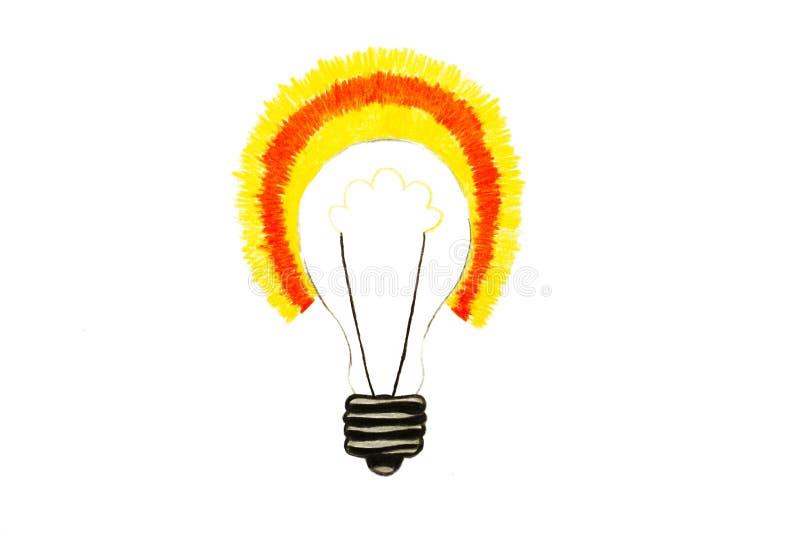 Zeichnung der Birne, Konzeption der guten Idee vektor abbildung