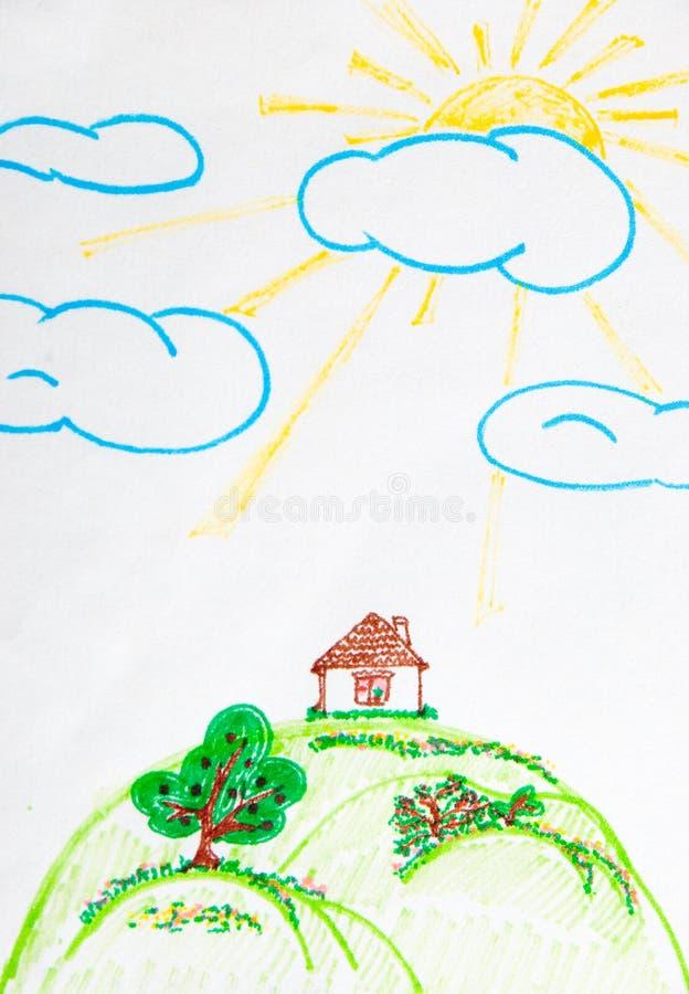 Zeichnung der Kinder stockfoto