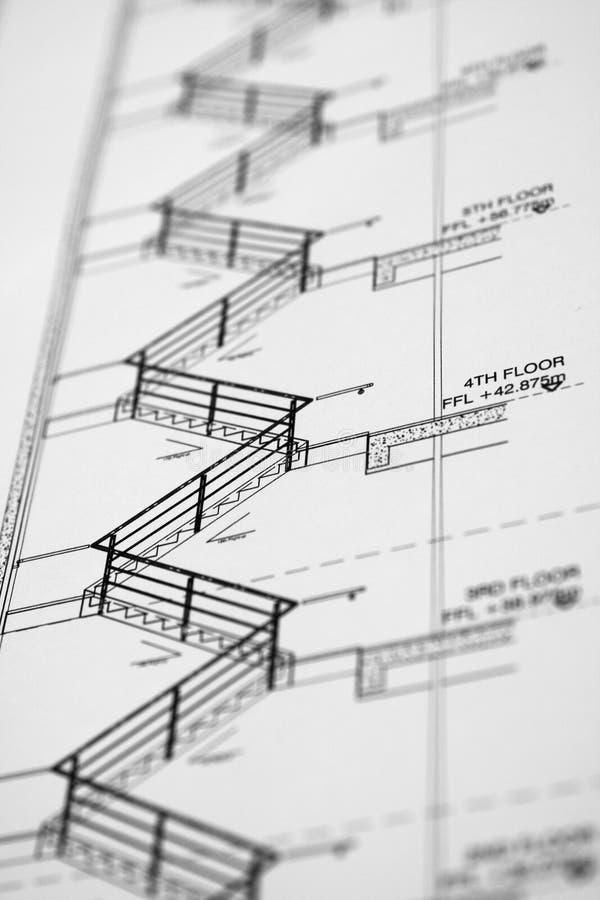 Zeichnung des Architekten lizenzfreie stockfotografie
