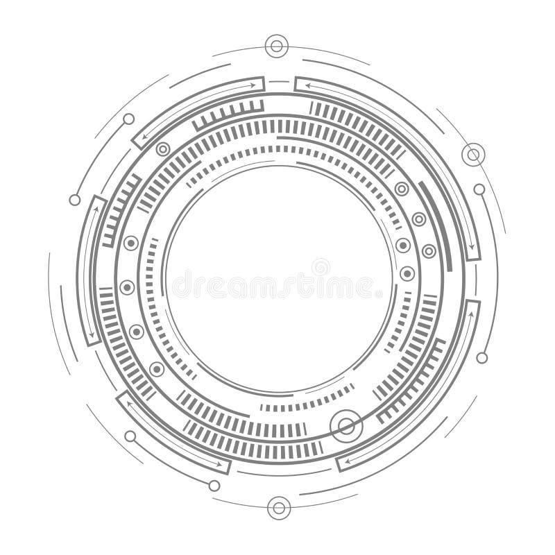 Zeichnung des Baums auf einem weißen Hintergrund Projekt des zukünftigen Produktes stock abbildung
