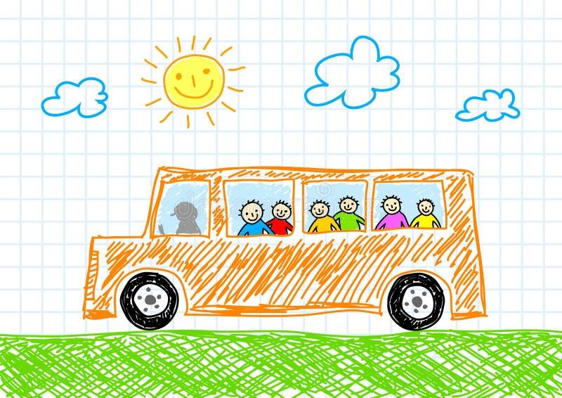 Zeichnung des Busses stock abbildung