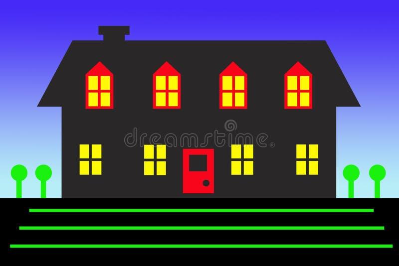 Zeichnung des Hauses stockbilder