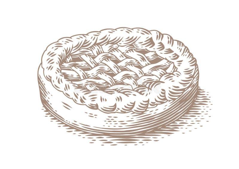 Zeichnung des Hefekuchens vektor abbildung
