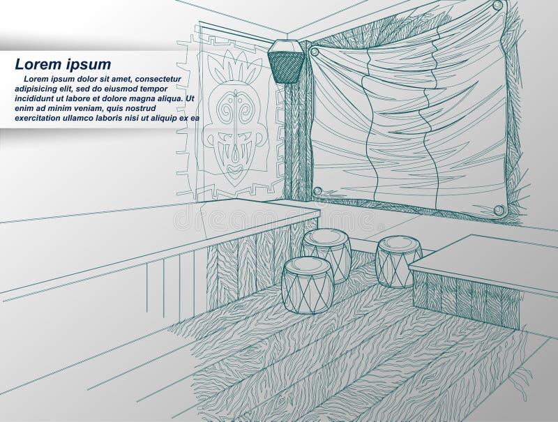 Zeichnung des Innenraums vektor abbildung