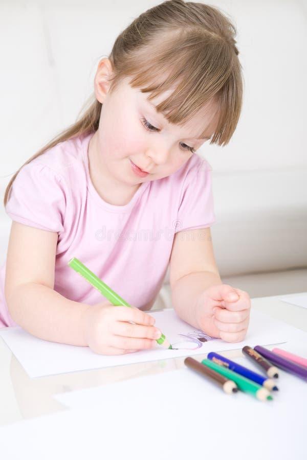 Zeichnung des jungen Mädchens stockfoto