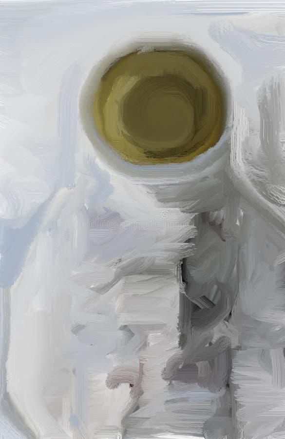 Zeichnung des Raumanzugs stockfotos